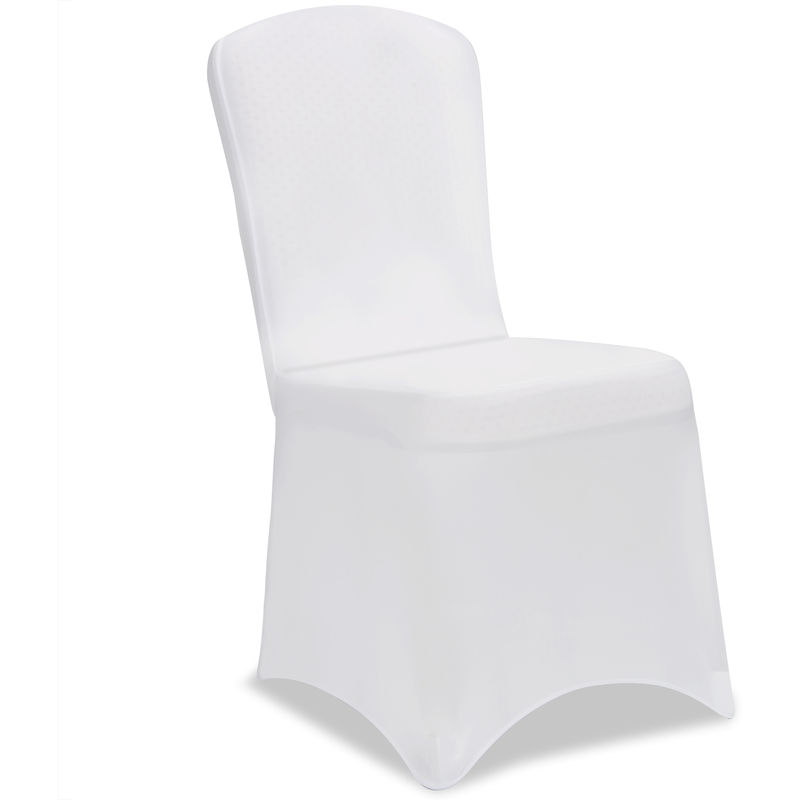 Enjoyable 2X Stretch Chair Cover Fitted Slip Cover White Suits All Common Chairs Wedding Anniversary Party Pabps2019 Chair Design Images Pabps2019Com