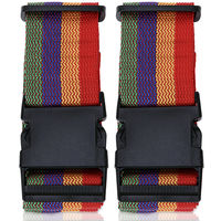 2x Suitcase Strap Red Yellow Blue Green