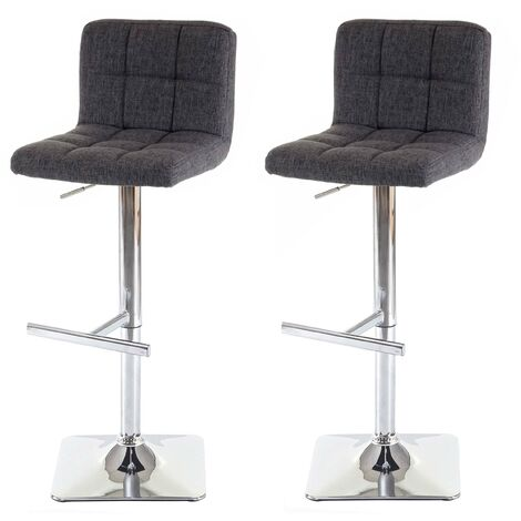 2x tabouret de bar Kavala, chaise bar/comptoir, avec dossier