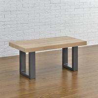 2x Tischgestell 30 x 43cm Stahlgrau Bankgestell Bank Untergestell Tischkufen Pulverbeschichtet Viereckig Quadratisch