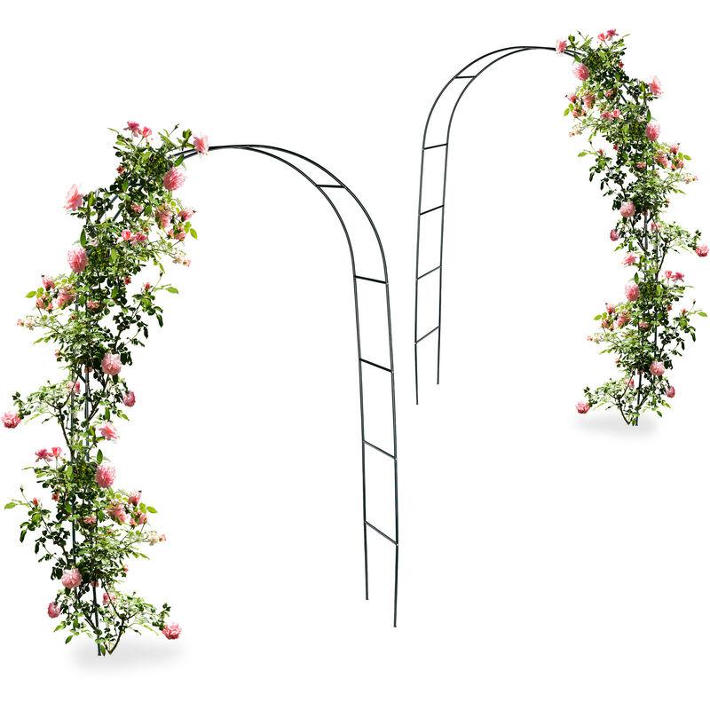 Rankhilfe Spalier Rosenbogen 200cm Kletterpflanzen-Rankgitter Rankgerüst Obelisk