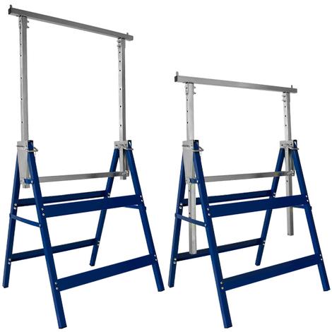 2x Tréteaux télescopiques professionnels 200 kg - Bricolage Outils Support