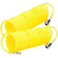 2x Tuyau spiralé pneumatique flexible pour compresseur d'air 7,5m pression 8 bar