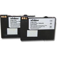 2x vhbw Akku 700mAh für Handy, Festnetz, Telefon Siemens Gigaset ersetzt BA-510, V30145-K1310-X250, S30852-D1752-X1.