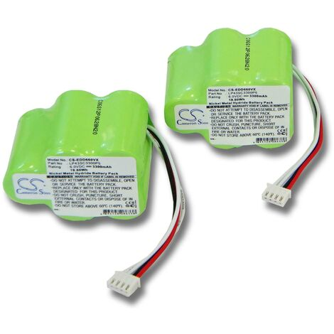 2x vhbw Ni-MH Batterie pour Aspirateur Hoover Robot RVC0010, RVC0010, RVC0011, RVC0011-001. Remplace: 945-0006, 945-0024, LP43SC3300P5.