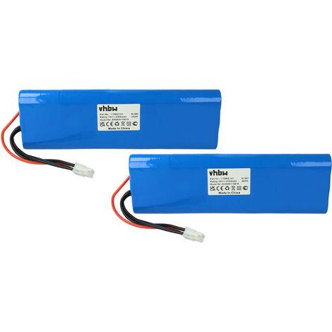 2x vhbw NiMH batterie 2000mAh (18V) pour tondeuse à gazon robot tondeuse Gardena Robotic R160, Husqvarna Automower 210AC comme 112862101