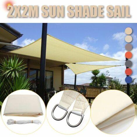 2x2M Foldable Sun Visor Sailing Outdoor Camping Hiking Yard Garden Canopy Cover (Blue)