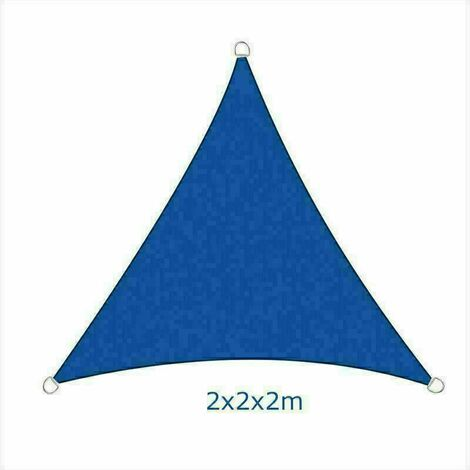 2x2x2m Sun Sail Shade Triangle Awning Canopy Garden Sun Patio Sunscreen - Blue