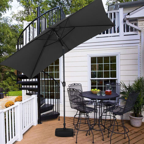 2x3M Parasol Umbrella Patio Sun Shade Crank Tilt with Square Base