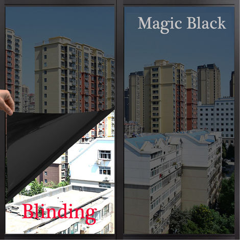 2x50CM Film Autocollant Pare-soleil Teinte Sticker Adhésif Fenêtre intimité Voiture Vitre Décoration-noir