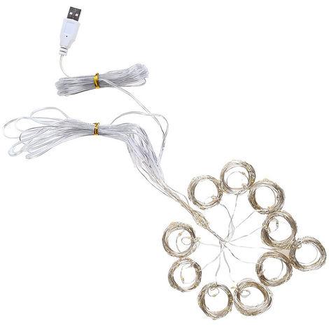 3 * 3-M 300 L-EDS USB cortina de la lampara suave alambre completo cortina de luz estrellada, cadena de luz, blanco calido