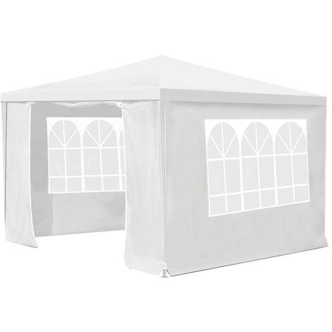 3 * 3 m 4 paredes Toldo para exteriores Carpa para fiestas Gazebo para bodas Barbacoa para jardín resistente (blanco)