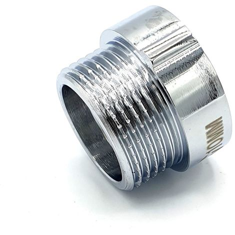 "3/4"" BSP (22mm) 10mm Pipe Thread Extension Female x Male Chrome Brass"