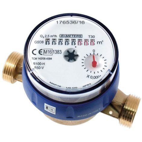 "3/4"" BSP DN20 Cold Water Meter High Quality Single Jet Flow Counter Check"