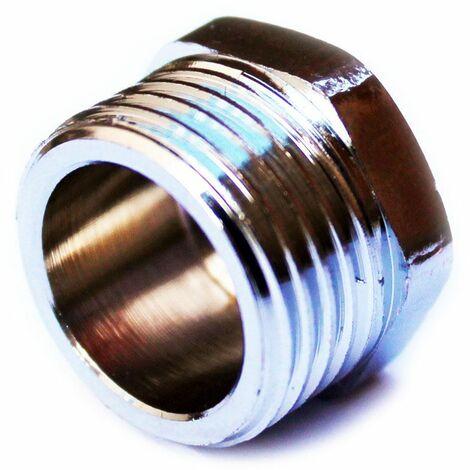 "3/4"" bsp thread chrome pipe screw hex male blanking plug tube end cap cover"