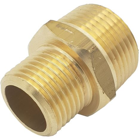 "3/4"" BSP x 1/2"" NPT Male Union Reduction Thread Adaptor UK Thread to American"