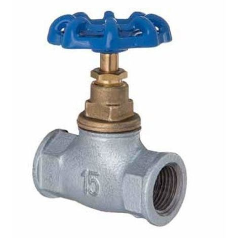 "3/4"" Inch BSP Inline Straight Run Cast Iron Screw Valve Water Flow Regulator"