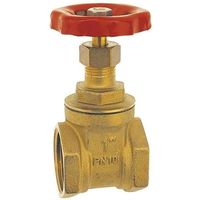 """3/4"""" Inch BSP Strong Brass Sluice Gate Valve Water Stop with Red Head Handle"""