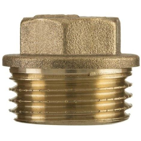 "3/4"" inch bsp thread brass pipe screw hex male blanking plug tube end cap"