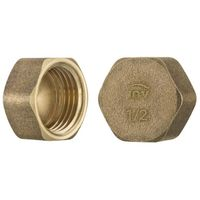 "3/4"" inch thread brass pipe screw hex female blanking plug tube end cap"