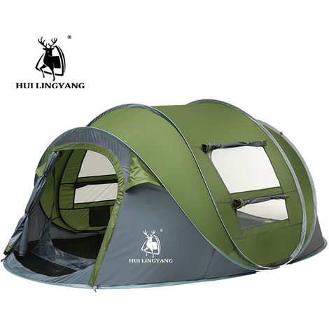 3-4 Person Automatic Pop Up Tent Waterproof Portable Outdoor Camping Hiking Hasaki