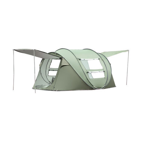 3-4 Person Camping Tent Waterproof Automatic Family Outdoor Shelter - Army Green Mohoo