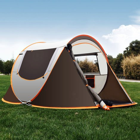 3-4 person tents waterproof auto installation family camping tents outdoor shelter