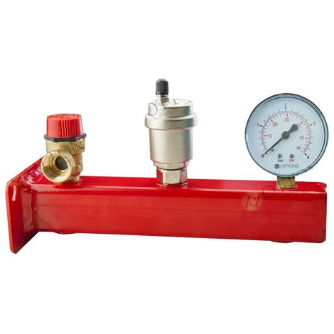 "3/4"" Safety Group Bar Boiler Heater up to 50kW Valve Vent Manometer 3 Bar"
