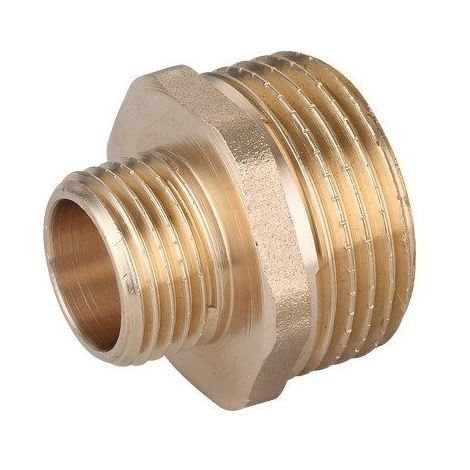 3/4 x 1/2in BSP Male Thread Pipe Reducer Nipple Brass Fittings Couplings