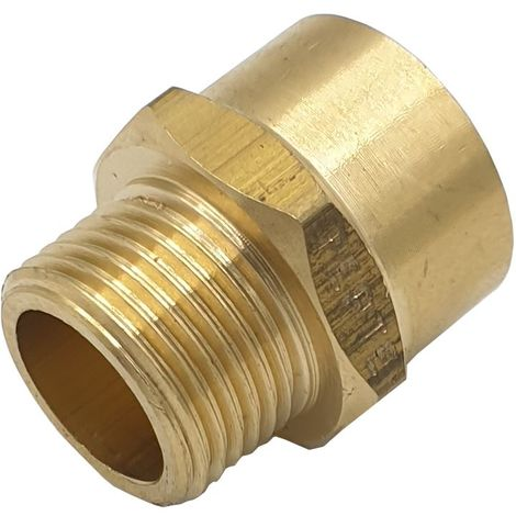 "3/8"" BSP Male x NPT Female Connector Thread Joiner Adaptor UK Thread to American"
