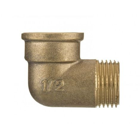 "3/8"" BSP Thread Pipe Connection Elbow Male x Female Screwed Fittings Iron Cast Brass"