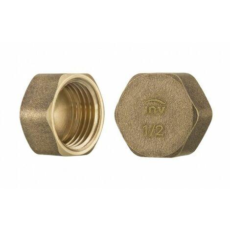 "3/8"" inch thread brass pipe screw hex female blanking plug tube end cap"