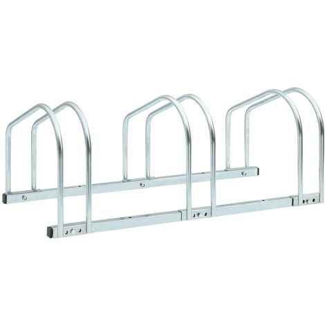 3-Bike Parking Floor Rack 71x33x27 cm Steel