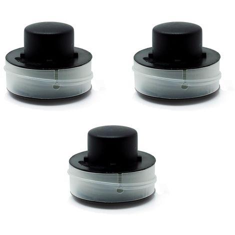 3 bobines de rechange en paquet de 3, bobine de coupe-herbe, bobine de rechange, convient à la coupe-herbe Einhell BG-ET 5530