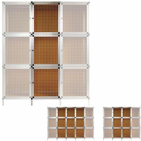 3 Boîtes Module d'extension Clapier lapin Box 180 x 50 x 48 cm Aluminium / MDF