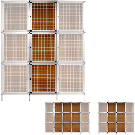3 Boîtes Module d'extension Clapier lapin Box - Aluminium / MDF