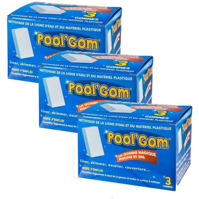 Toucan - 3 boites Pool Gom nettoyage de la ligne d'eau piscine (lot de 9 pieces)