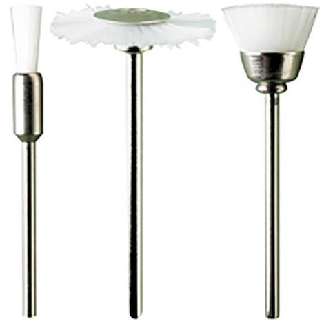 3 brosses en nylon blanc assorties Q. 2,35 mm - M.4170 - PG Mini