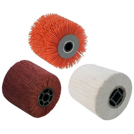 3 Brosses (nylon abrasif, fibre synthétique, coton) pour renovateur REX 120C, REX 200, REX-H200 FARTOOLS