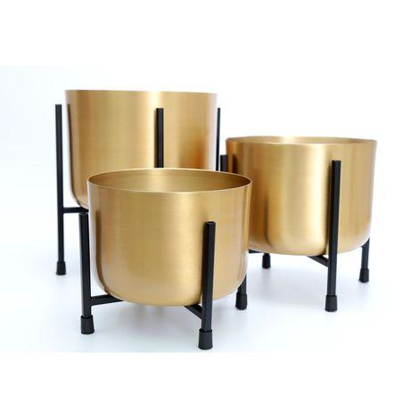 """main image of """"3 Cache-pots sur pied design Gold - - Or"""""""