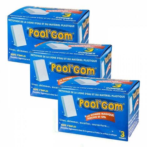 3 Cajas de Pool Gom Gom piscina de limpieza de la línea de agua (juego de 9 piezas)