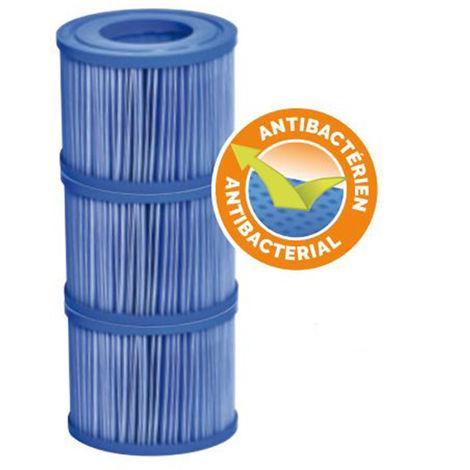 3 cartouches de filtration Bacti-Stop pour spa gonflable ou portable - Netspa