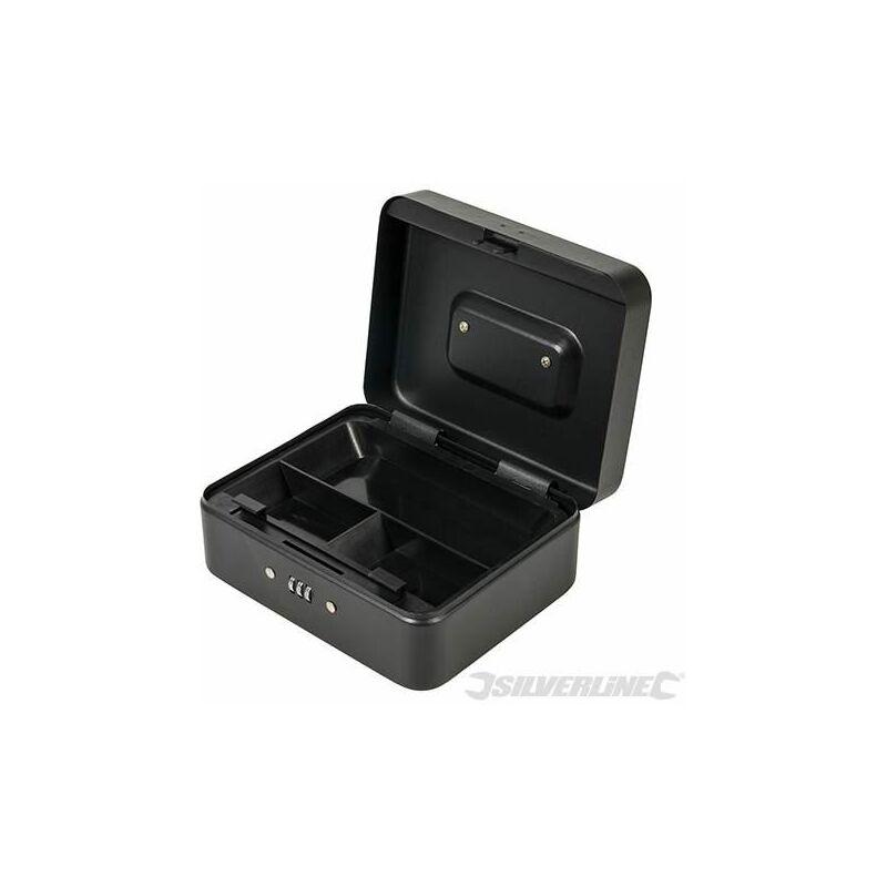 Silverline 3-Digit Combination Cash /& Valuables Safe Box 200 X 160 90mm 732370