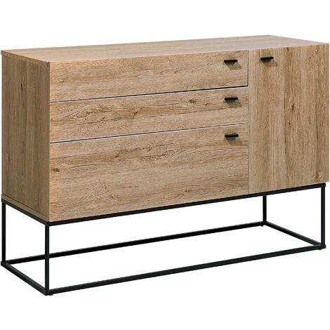 3 Drawer Sideboard Light Wood ARIETTA