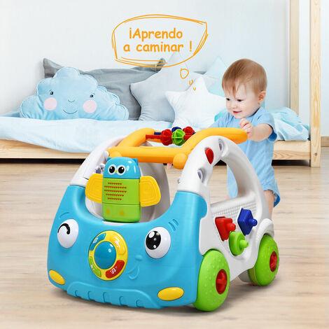 3 en 1 Andador para Bebé con Música y Luces Altura Ajustable Correpasillos para Niños de 6 a 36 Meses