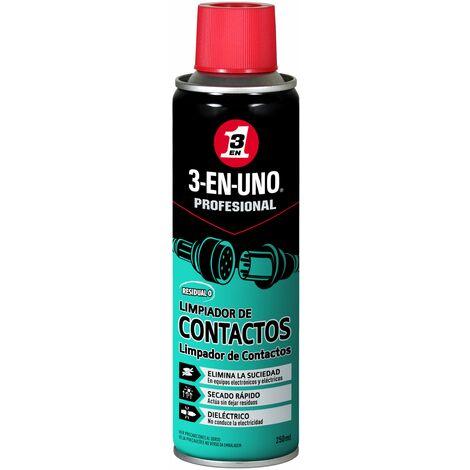 3-EN-UNO Profesional Lubricante Limpia Contactos en spray 250ml.