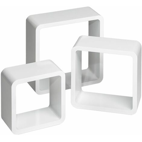 3 floating shelves Lena - wall shelf, wall mounted shelf, hanging shelf
