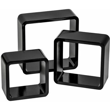 "main image of ""3 floating shelves Lena - wall shelf, wall mounted shelf, hanging shelf"""