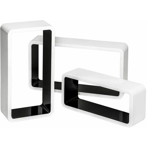 3 floating shelves Leonie - wall shelf, wall mounted shelf, hanging shelf