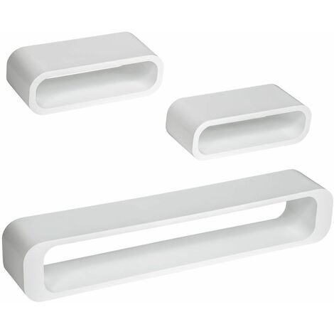 3 floating shelves Liv - wall shelf, wall mounted shelf, hanging shelf